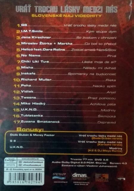 DVD Slovenské videohity